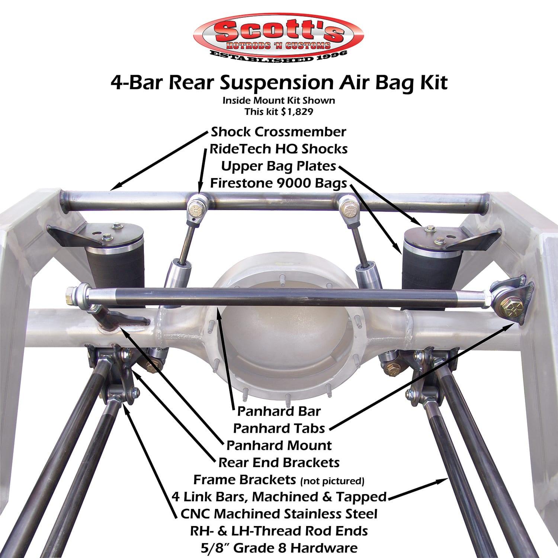 Scott's Hotrods 4-BAR Rear Suspension