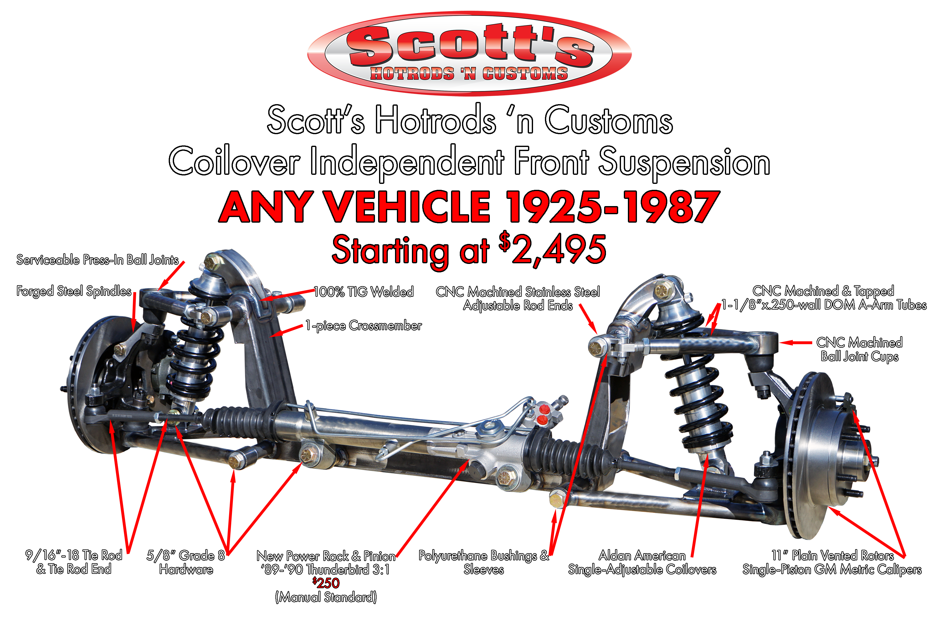 Scott's Hotrods Coilover Independent Front Suspension Kit