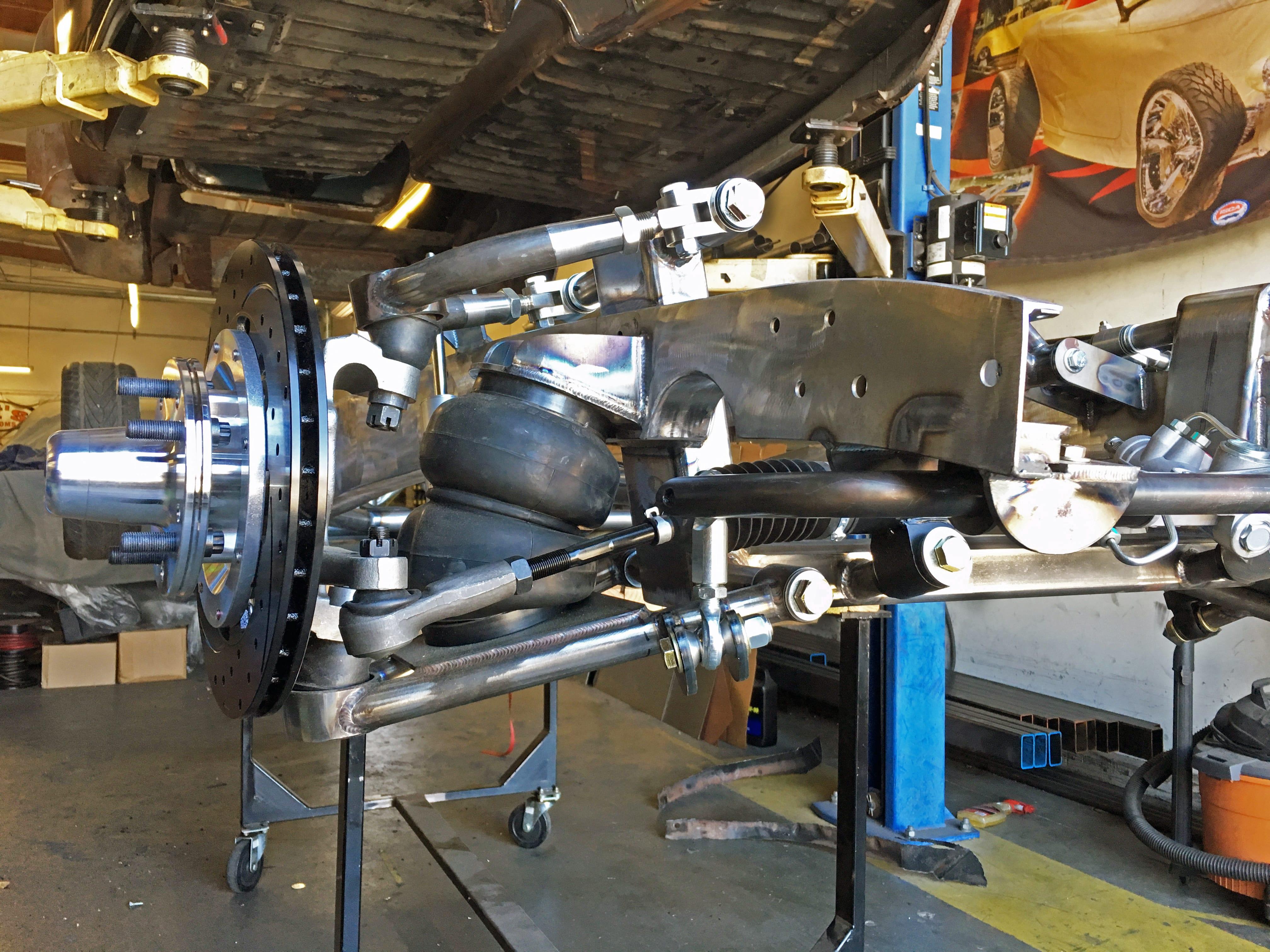 Installed SuperSlam Independent Front Suspension Kit