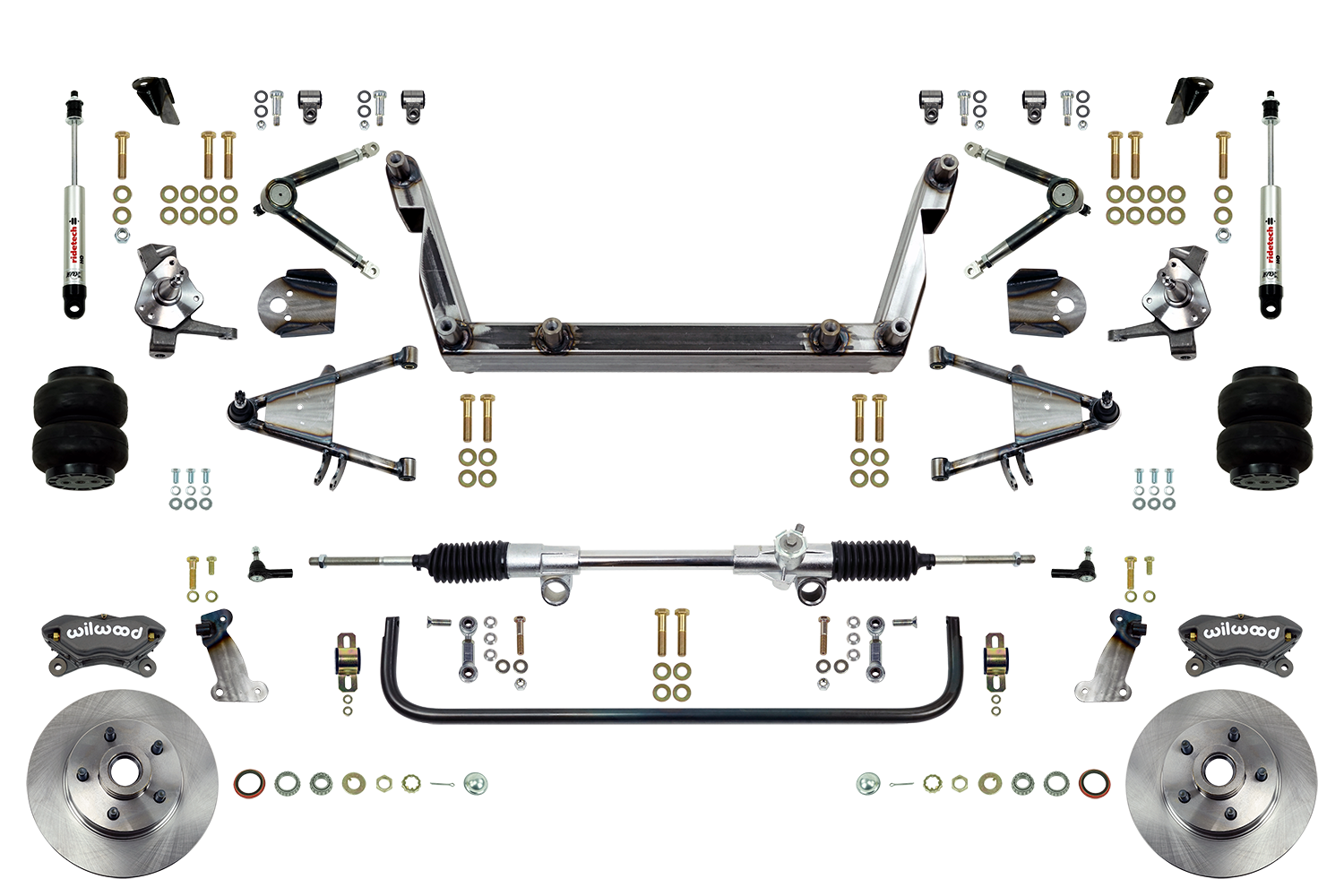 Scott's SuperSlam Airbag Independent Front Suspension Kit Wilwood Calipers