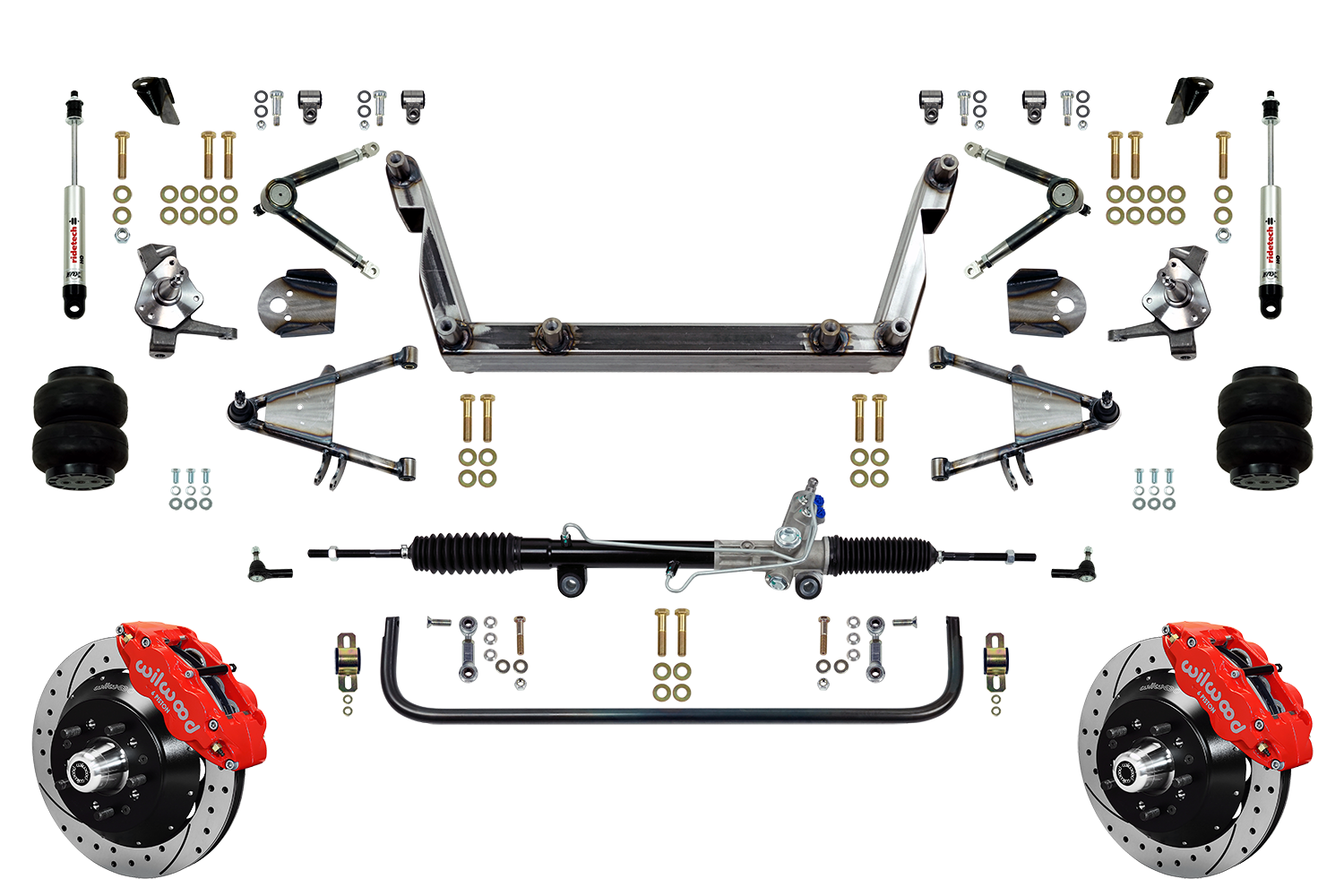 """Scott's SuperSlam Airbag Independent Front Suspension Kit Power 13"""" Wilwood"""