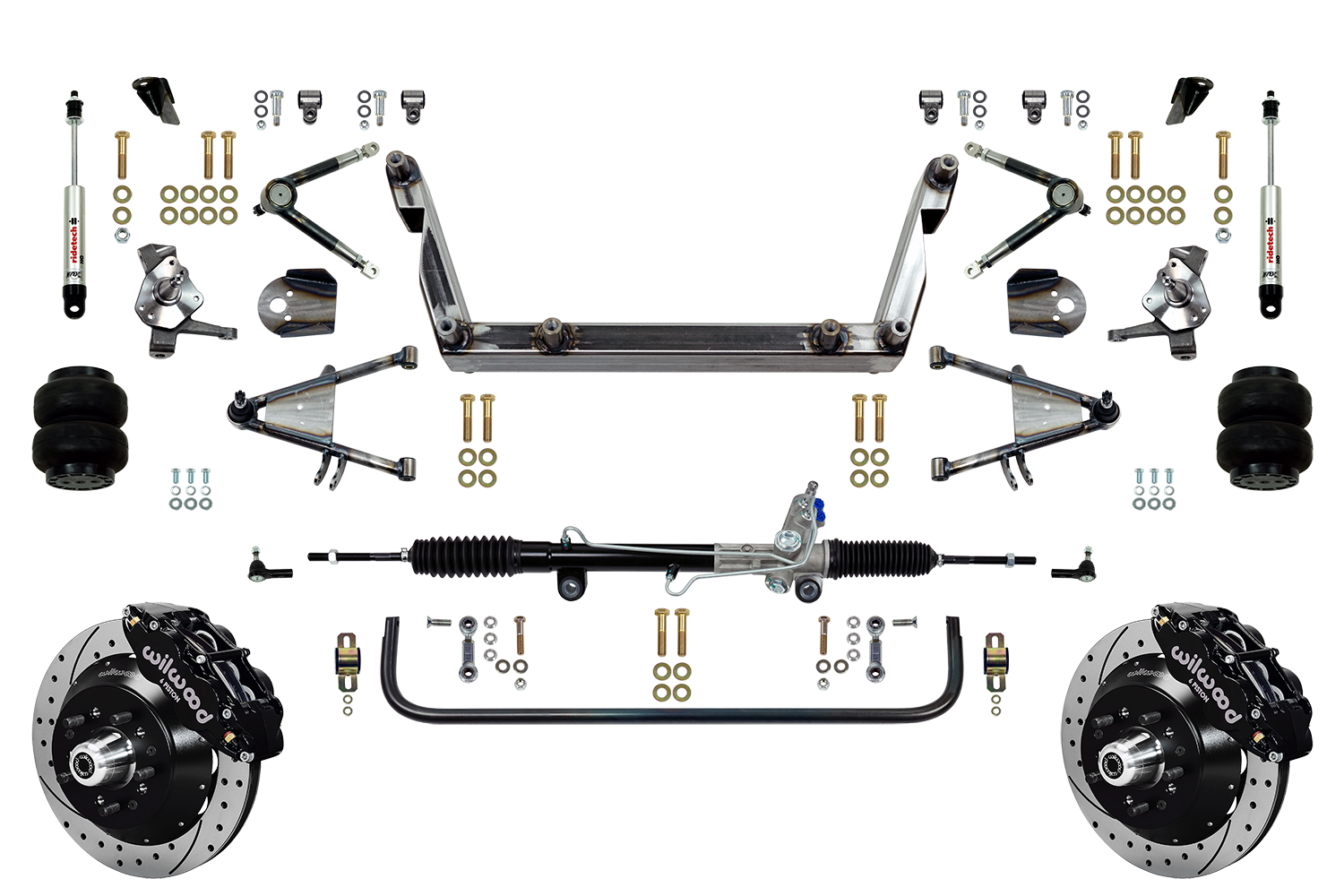 """Scott's SuperSlam Airbag Independent Front Suspension Kit Power 14"""" Wilwood"""