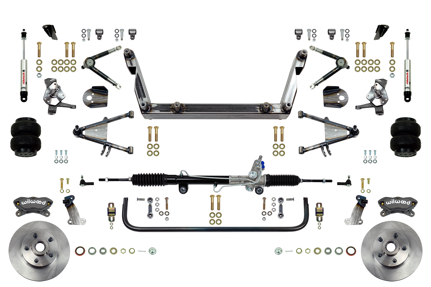 Scott's SuperSlam Airbag Independent Front Suspension Kit Power Wilwood Calipers