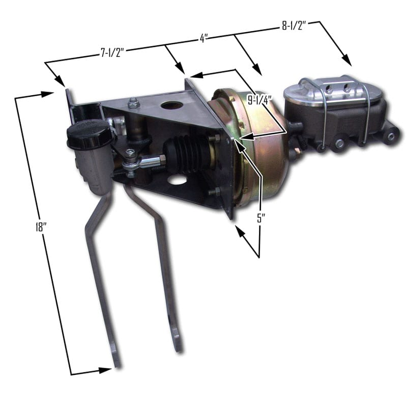 Dual Underdash Pedal Assembly
