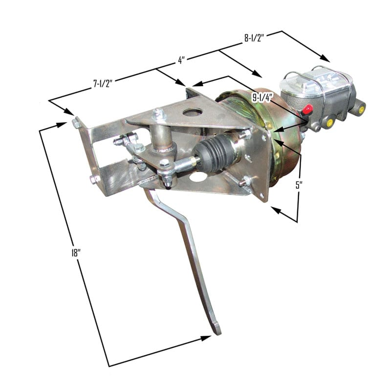 Single Underdash Pedal Assembly