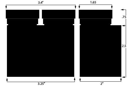 Double Reservoir Dimensions