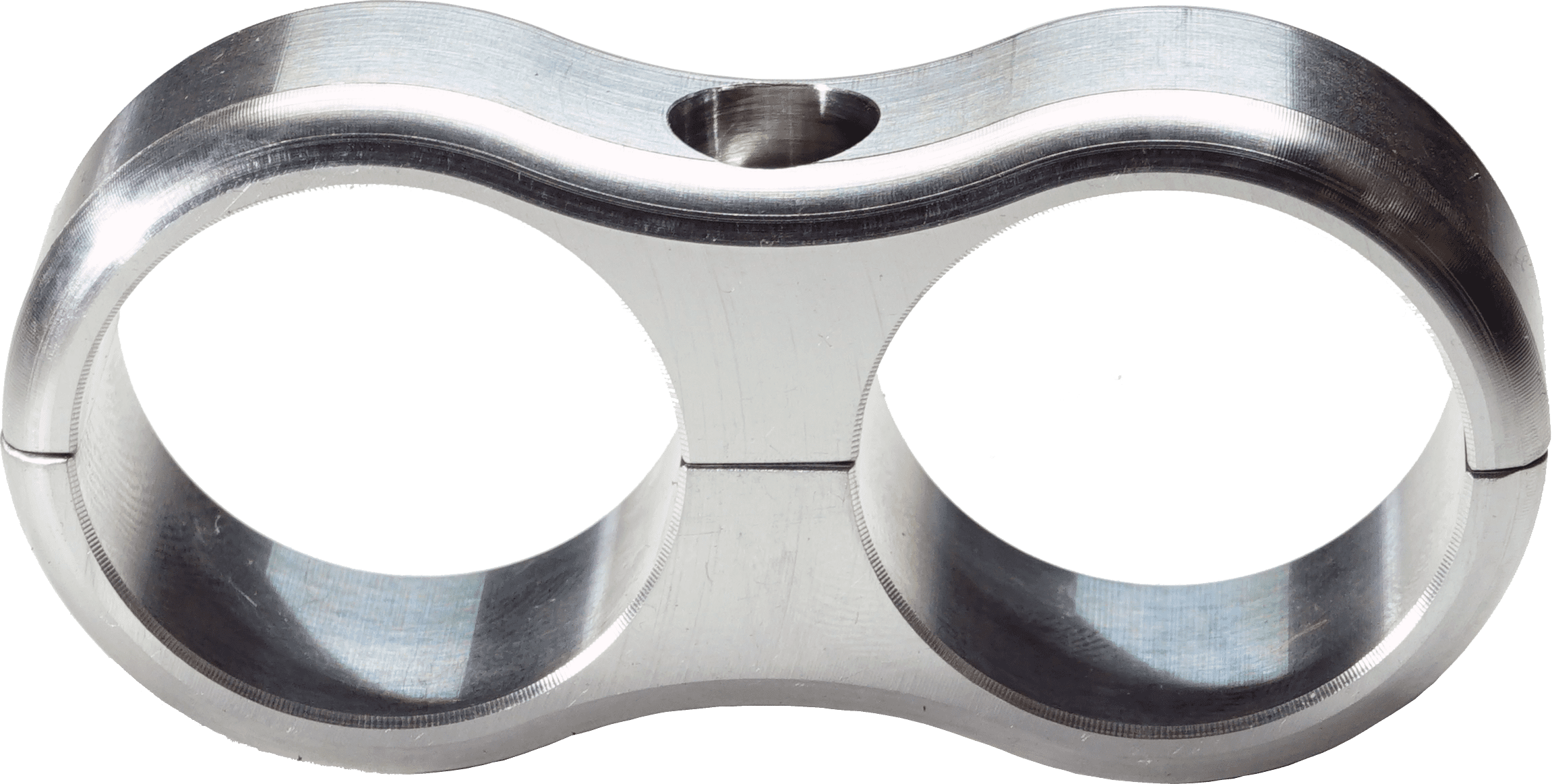 SCOTTS BILLET LINE CLAMP DUAL -12AN FLOATING