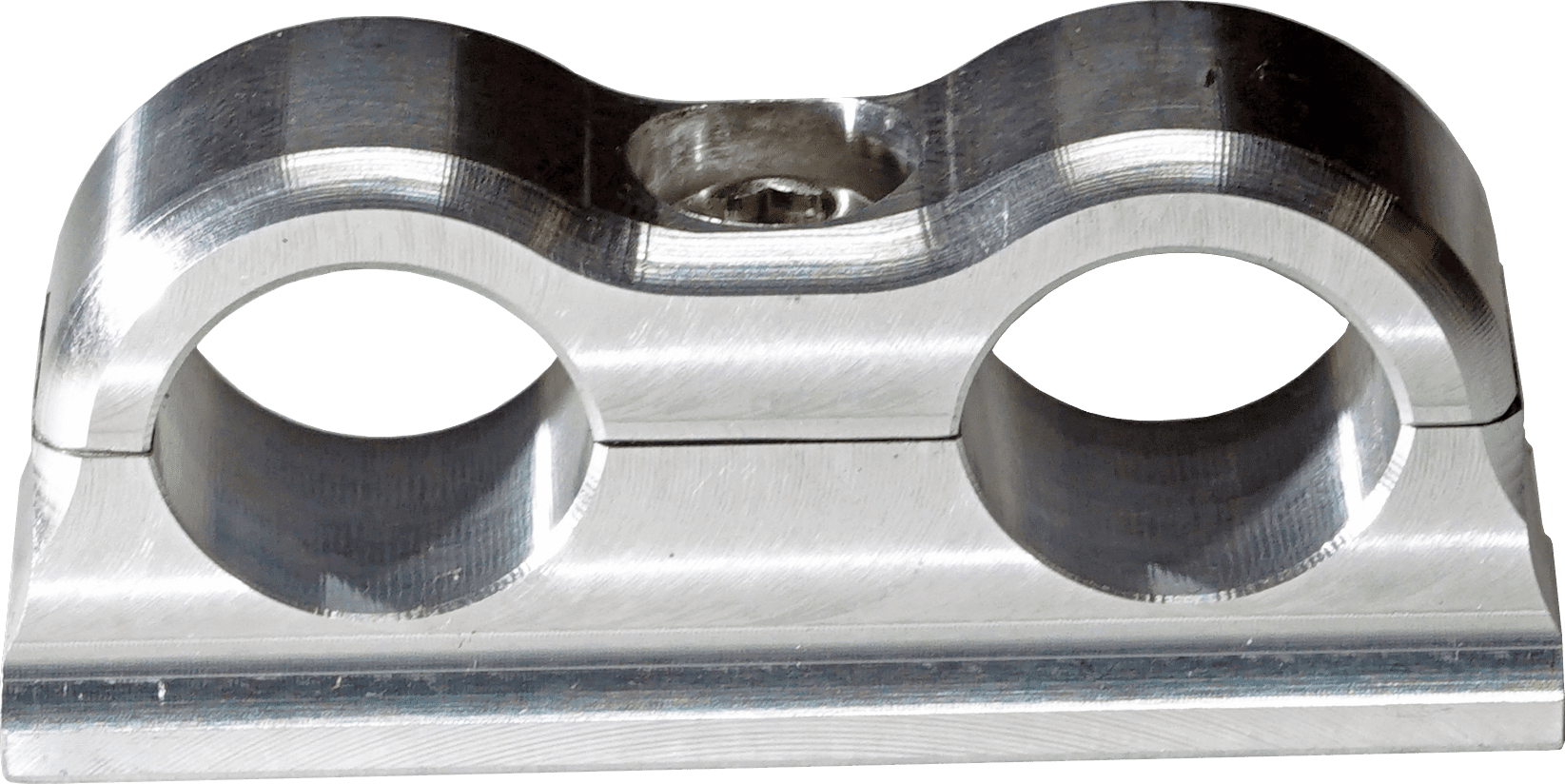 SCOTTS BILLET LINE CLAMP DUAL -6AN FIXED