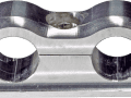 SCOTTS BILLET LINE CLAMP DUAL 12 LINE FIXED