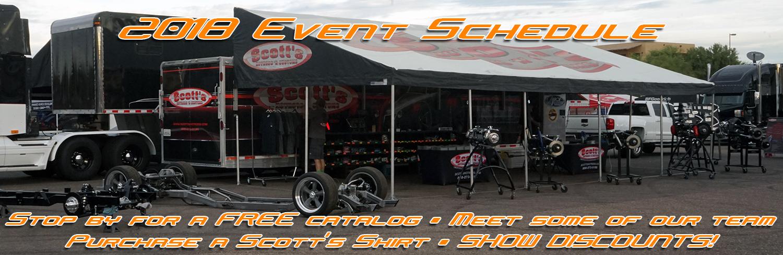 Scott's Hotrods Show Schedule