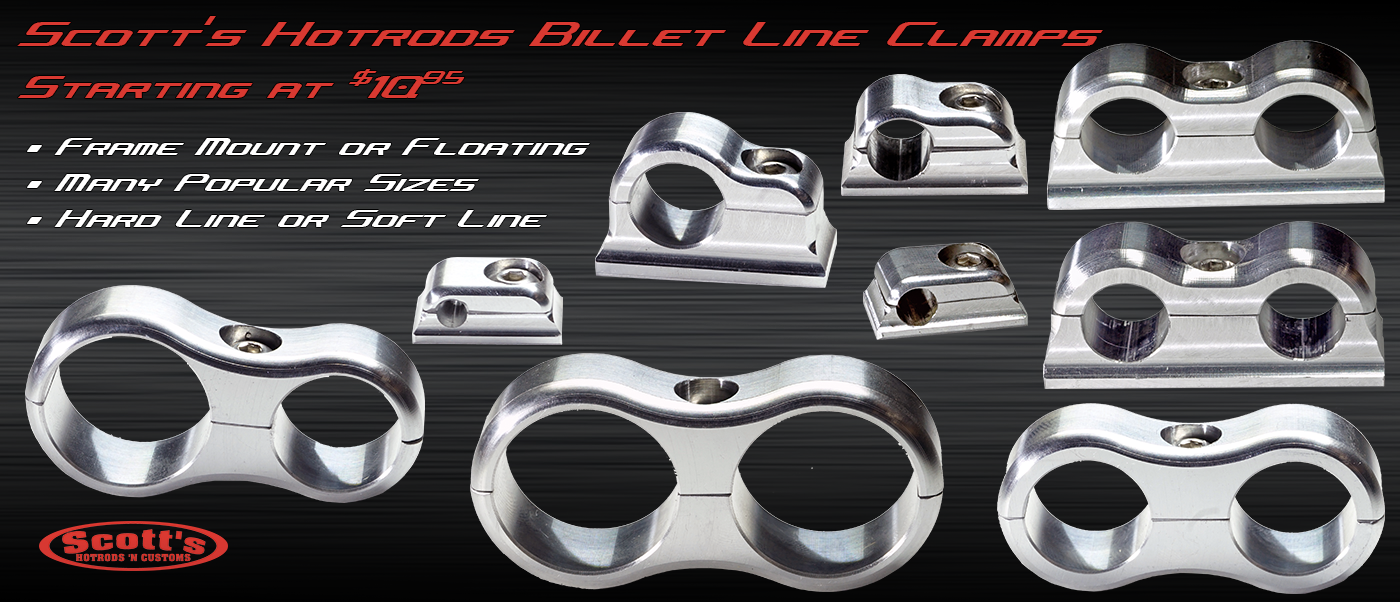 scotts custom billet line clamps